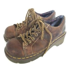 Dr. Doc Martens Keani Brown Oxford Boots Size 7